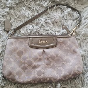Coach  Grey Clutch in great condition